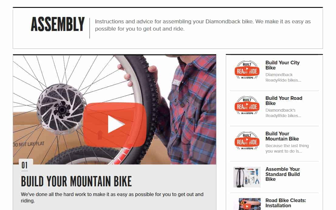 how to assemble your diamondback bike once you purchase it
