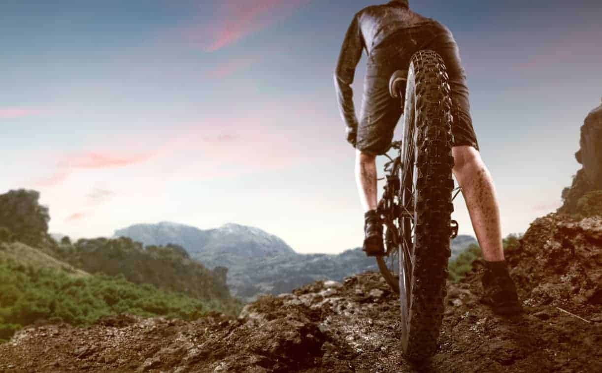can you put mountain bike tires on a road bike